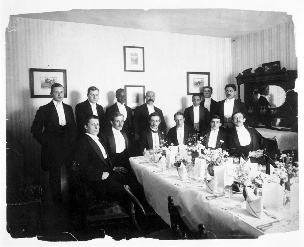 Photograph of Alain Locke at the Cosmopolitan Club, c. 1908: Moorland Spingarn Library, MSS_5317A. Image courtesy of the Moorland-Spingarn Research Center.